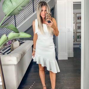 Dresses & Skirts - Tea & Cup, white asymmetrical dress